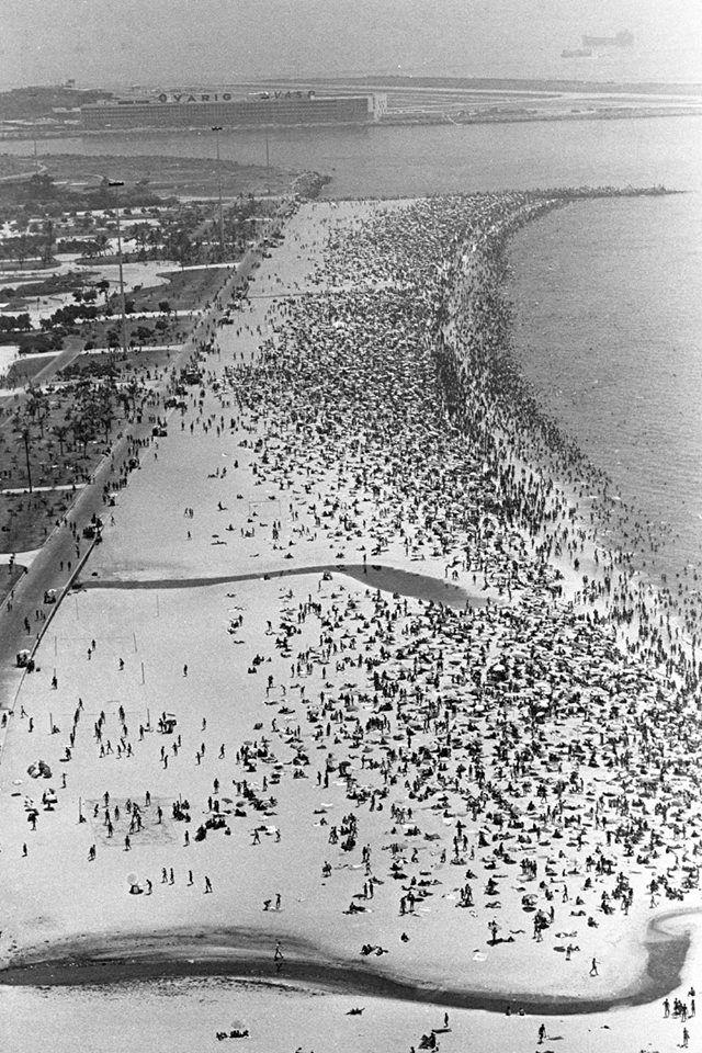 década de 1960 - Praia do Flamengo.