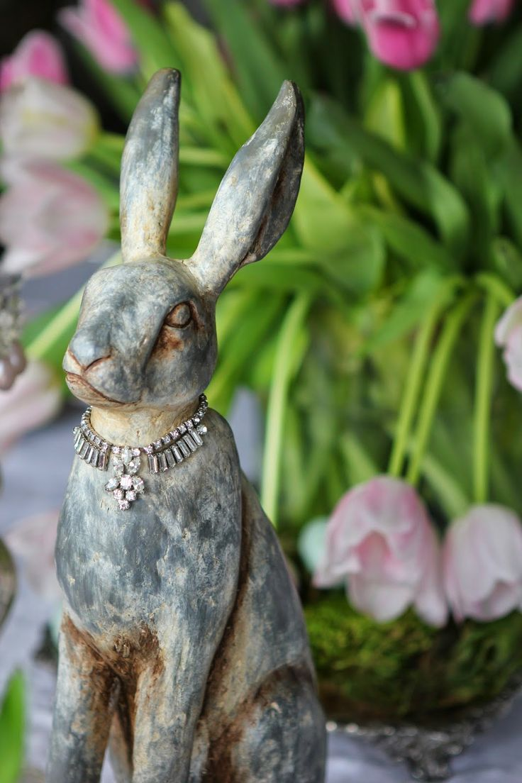 Romancing the Home: Easter Day Festivities- necklace on bunny
