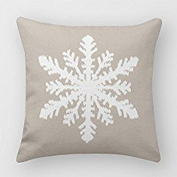 Mascow Christmas Snowflake Square Cushion Covers Christmas Throw Pillow Covers 16