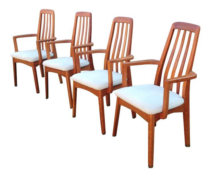 Benny Linden Danish Modern Dining Armchairs - Set of 4 on Chairish.com #bennylinden