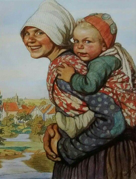Emil Beithan, Mutter und Kind, 1917