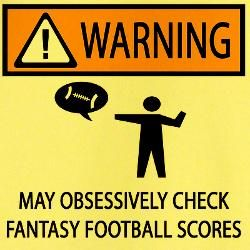 Fantasy football funny at cafe press