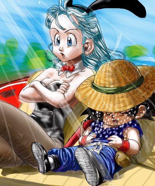 As 4232 melhores imagens em dragon ball z no pinterest dragon ball z drag es e akira - Goku e bulma a letto ...