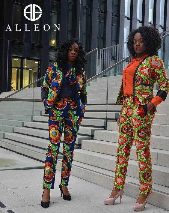 Beautiful African Print Ankara Jacket Styles With Matching Trouser