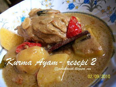 periuktanah: Kurma Ayam-resepi II