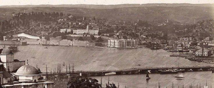 Unkapanı köprüsü,Kasımpaşa,gerilerde Okmeydanı.1880 ler