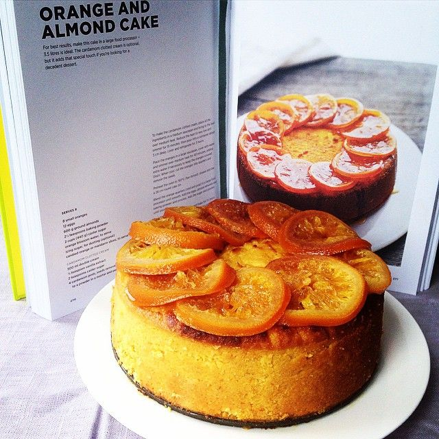 """This Orange and Almond Cake from The Karen Martini Collection was moist, light and delicious! Baked by our beautiful publishing assistant Charlotte for…"""