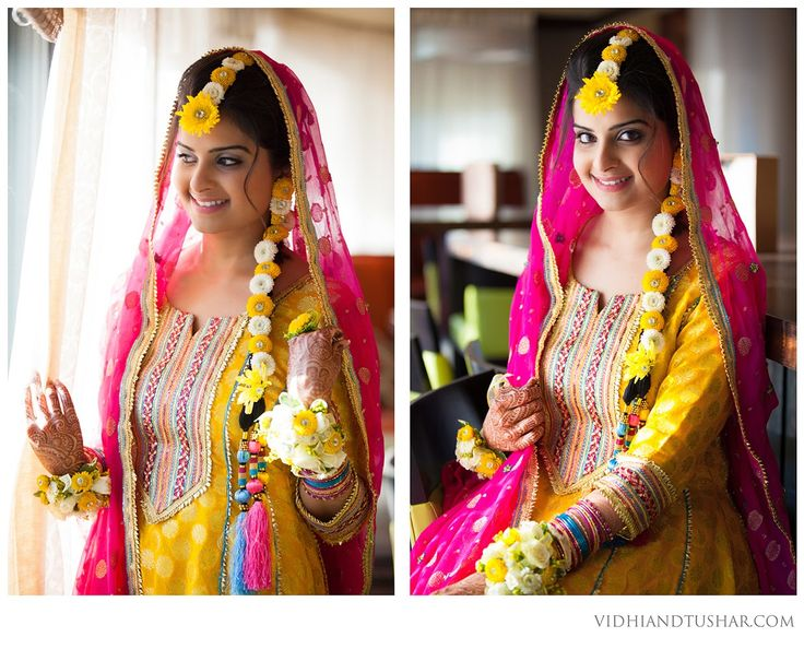 Flowery bride! VIDHI AND TUSHAR PHOTOGRAPHY: