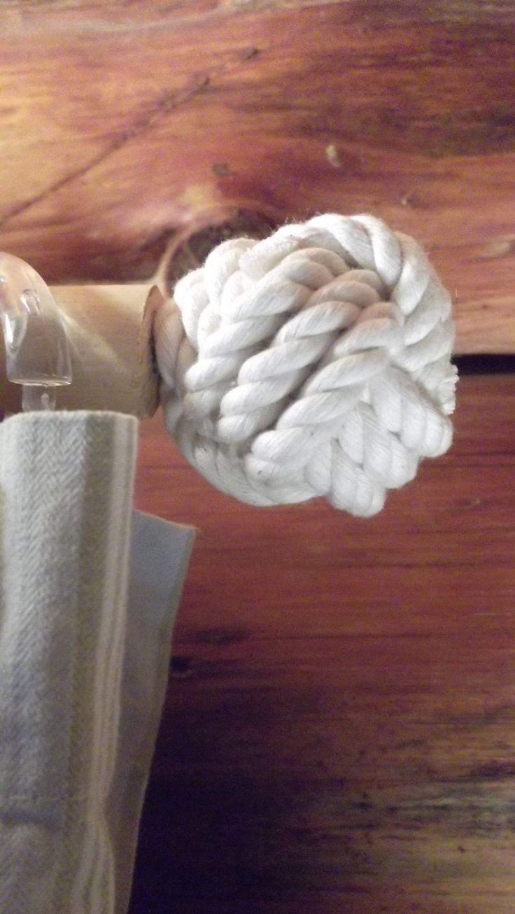 Nautical curtain rod finials - Nautical Decor 6 Finials For Curtains For The