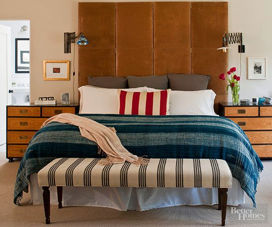 Bedrooms tend to be short on square footage, which means including pieces that look good and work well can be a challenge.