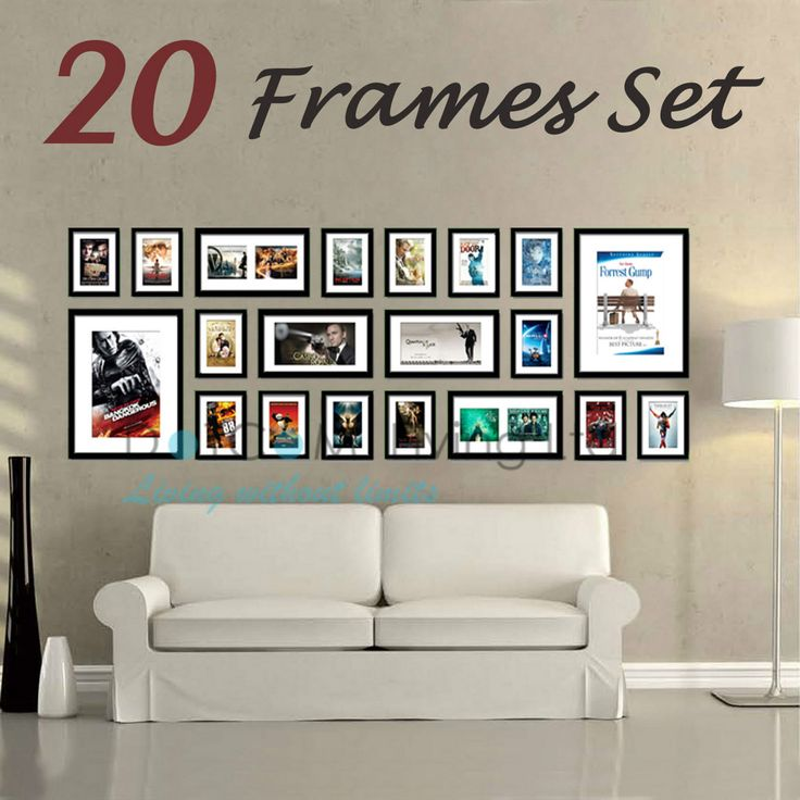Large Multi Picture Photo Frames Wall Set 20PCS 215cm x 77cm Home Art Deco Gif | eBay