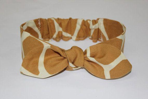 Baby knot headband Sophie giraffe print baby by ElleBelleBliss