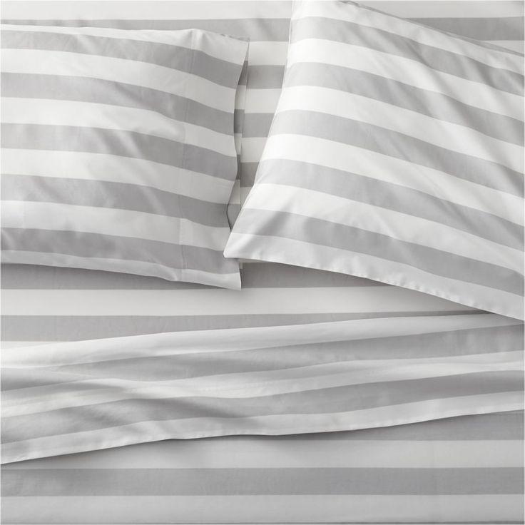 Marimekko Kesahelle Grey Extra-Long Twin Sheet Set - Crate and Barrel