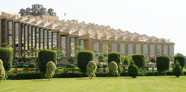 La bibliothèque de l'université des Sciences et Technologies  — Cité du 6 octobre, Egypte