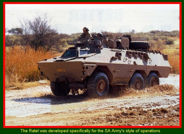 SADF.info Ratel Armoured Infantry Fighting Vehicle - THE Ratel was developed specifically for the SA Army's style of operations