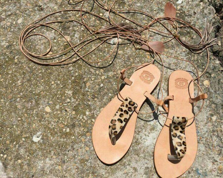 moda greca a leopardo pelle cuoio sandali Ancient Greek Sandals di fattoamanou su Etsy