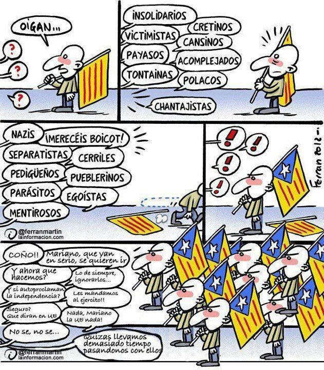 Resultado de imagen de viñetas independencia cataluña