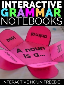 Interactive Grammar Notebook Freebie: Nouns Want more? Grammar Interactive Notebook Templates: NounsStay tuned for these Interactive Grammar Items!Verbs: Thursday, Sept. 3rd Adjectives: Monday, Sept. 7th Pronouns: Wednesday, Sept. 9th Adverbs: Friday, Sept. 11th Articles: Tuesday, Sept. 15th Prepositions: Thursday, Sept. 17th Conjunctions: Monday, Sept. 21st Interjections: Wednesdaty, Sept. 23rd This freebie noun interactive notebook resource includes the 5 petal noun template for defining a…