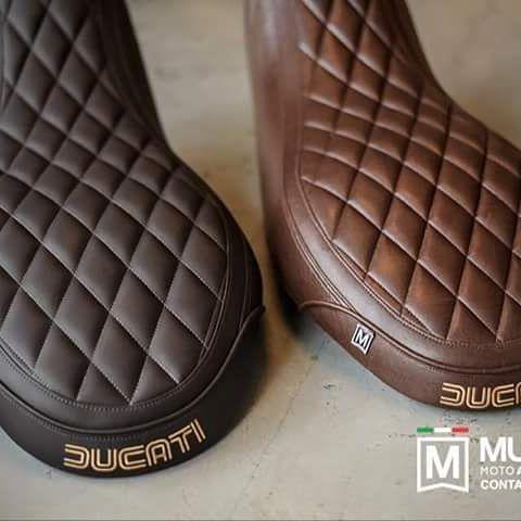 Left : Dark Brown Right : Brown  Custom Full Seat  Diamond shapes  By MUGELLO…