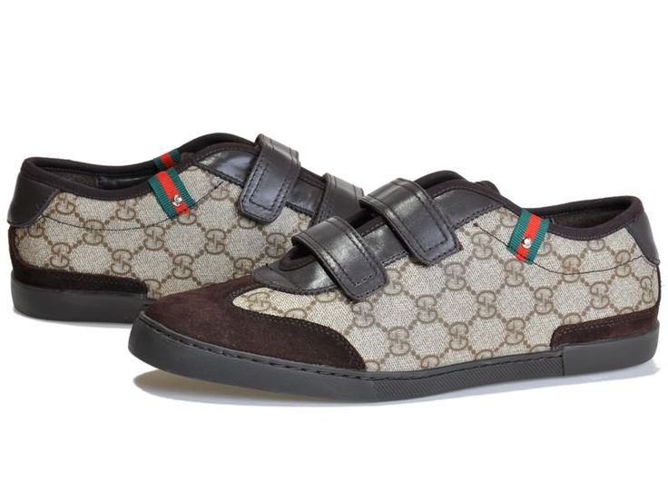 Gucci Double Hook Sneakers with Signature Web Detail Beige/Brow