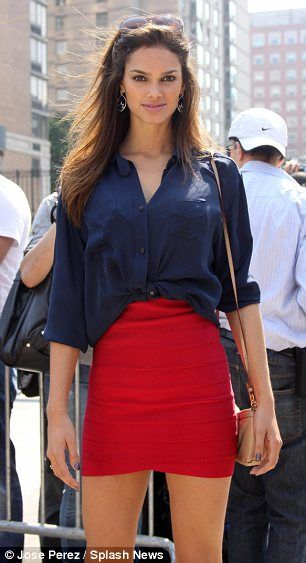 This is how you wear a tight skirt- with a blousy top, so chic!.....a little messy but cute