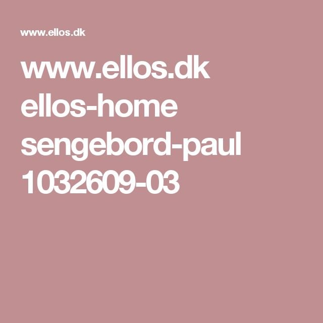www.ellos.dk ellos-home sengebord-paul 1032609-03