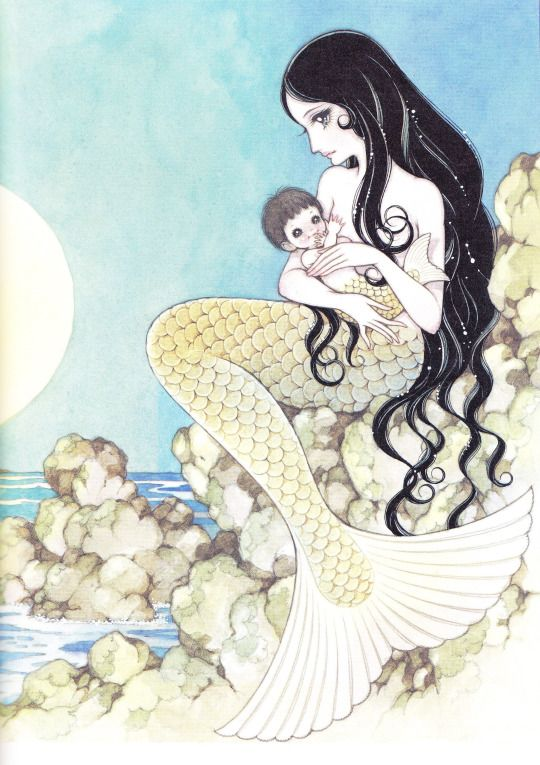 赤い蝋燭と人魚 画:高橋真琴  The Mermaid and the Red Candles (Akai Rosoku to Ningyo) illustration:Macoto Takahashi