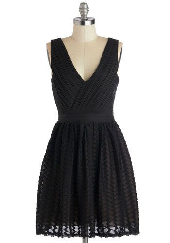 $97.99 Transcendent Texture Dress, #ModCloth--this isn't technically lace but it's cute and sheer and would totally work!