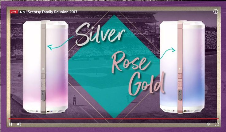Scentsy Go system: New Portable Scentsy fragrance system for Scentsy Fall Winter 2017. Can take up to 2 fragrance pods. Lasts 40 hours before needing to be recharged. Has color light display and a fan. Comes with USB cord