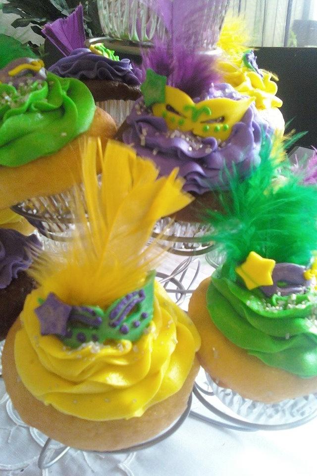 Mascarade / mardi gras cupcakes