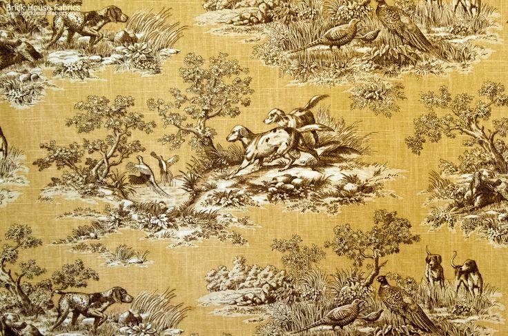 Dog Fabric Retriever Gold Toile Pheasant Fall A