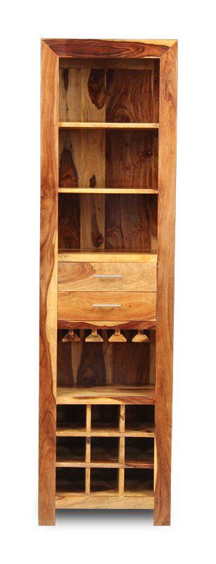 Indian Cube Sheesham Display Unit/Wine Rack