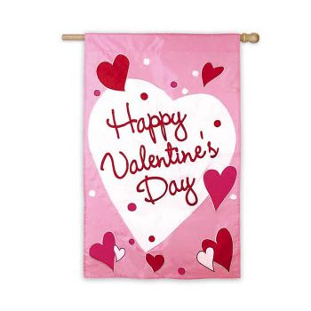 Happy Valentines Day Applique Flag From Evergreen Flag