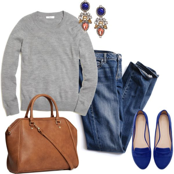 A fashion look from October 2013 featuring Madewell sweatshirts, Victoria's Secret jeans and Zara loafers. Browse and shop related looks.