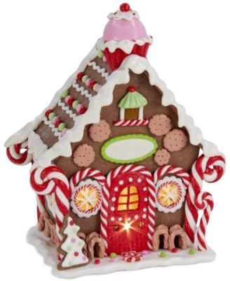 Kurt Adler Candy Gingerbread House Table Piece