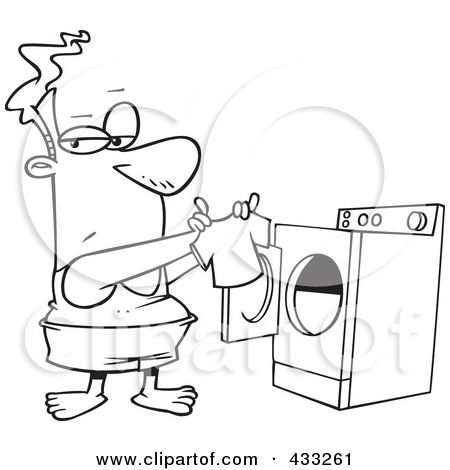 Laundry Room Coloring Pages