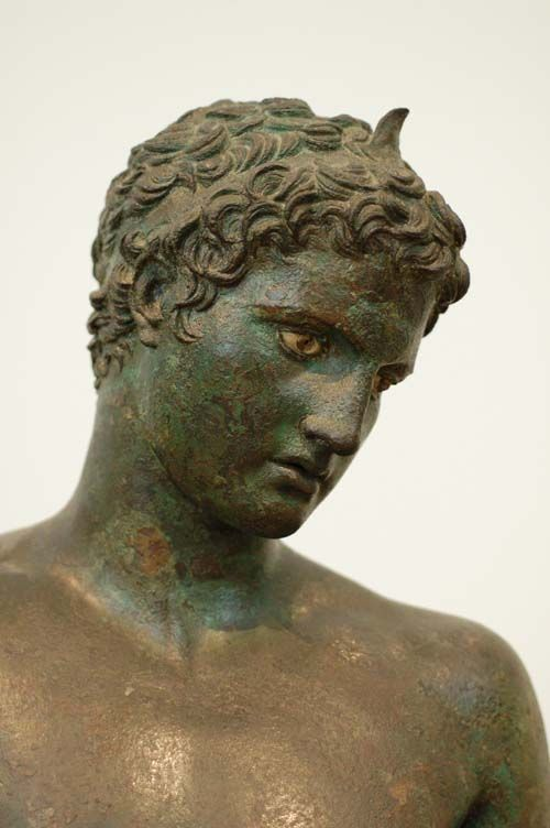 Said to be from the famous sculptor Praxiteles, Youth of Marathon, National Museum Athens