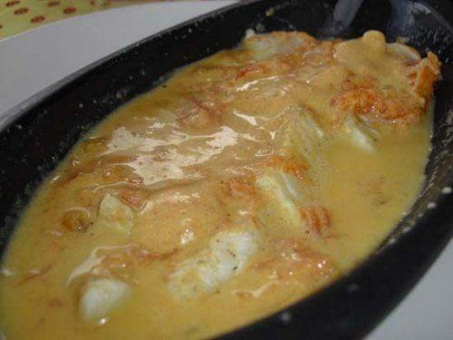 Recette de Filet de cabillaud au curry et lait de coco