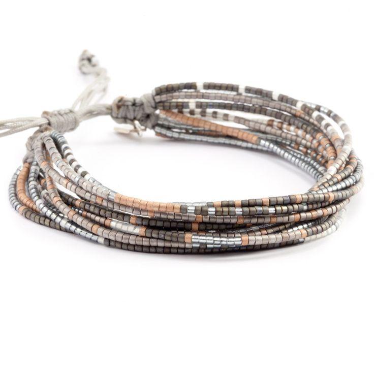 Chan Luu - Grey Mix Multi Strand Bracelet on Silver Cord, $95.00 (http://www.chanluu.com/bracelets/grey-mix-multi-strand-bracelet-on-silver-cord/)