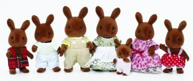 Sylvanian Families Celebration Brown Rabbits Family: Amazon.co.uk: Toys & Games £15