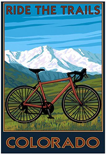 Mountain Bike Frames - Mountain Bike  Colorado Poster 13 x 19in -- Find out more about the great product at the image link.