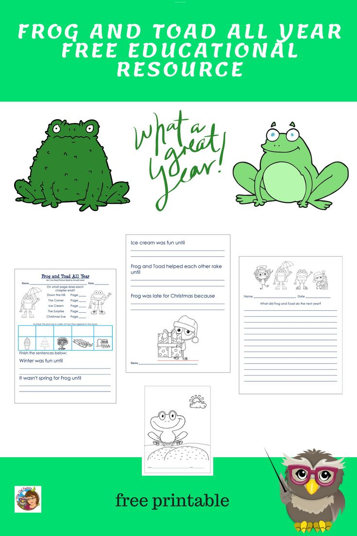 frog and toad all year guided reading lesson