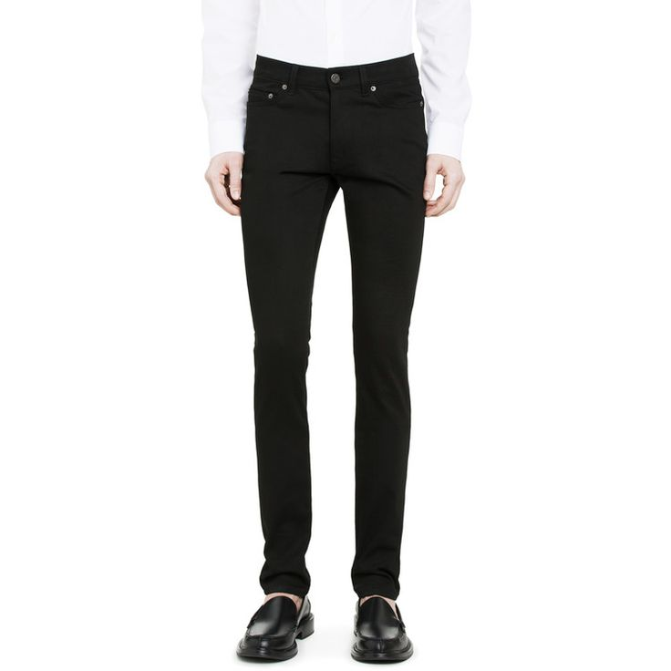 Acne Thin Stay Cash - Black skinny jeans go everywhere. The skinnier the better!