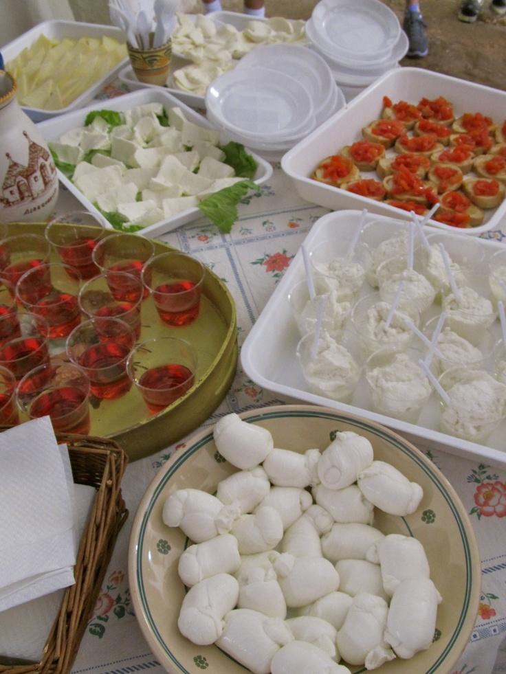 Puglia Farm Cheese Tasting (mozzarella)