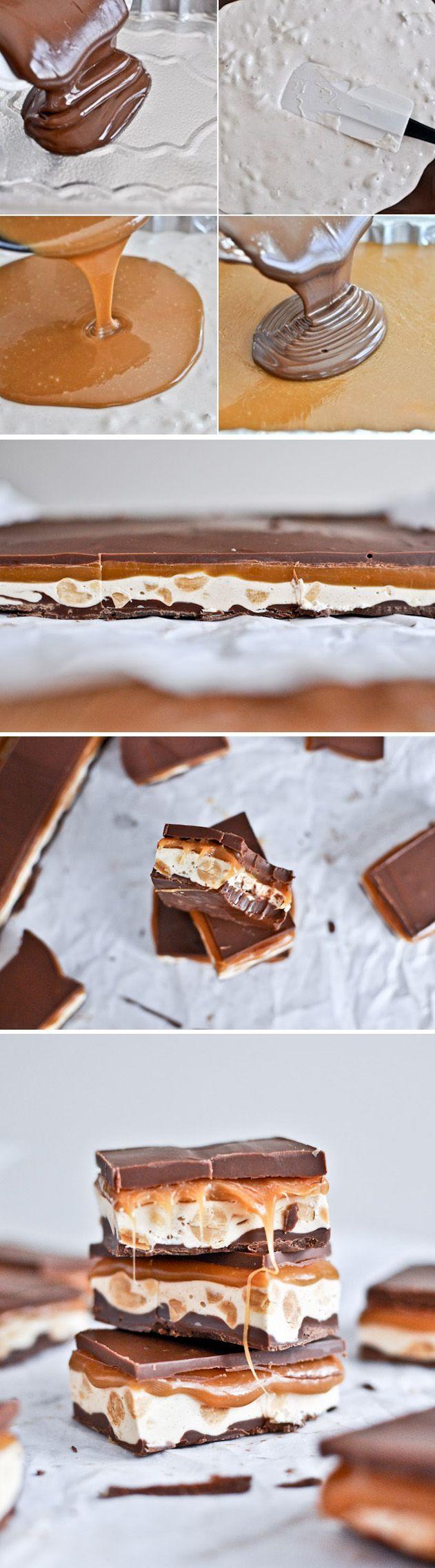 Chocolatinas Snickers caseras