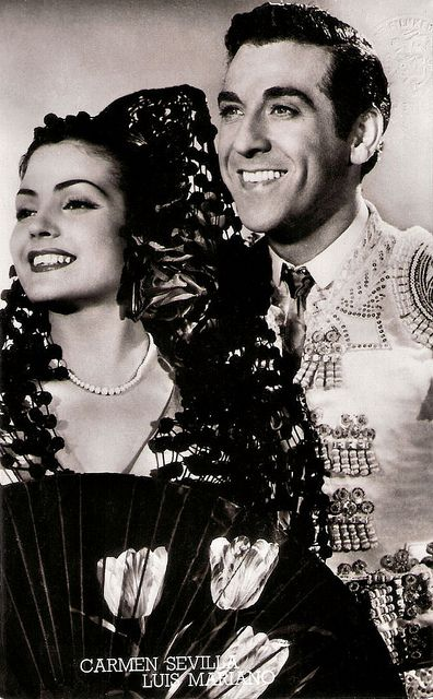 "Carmen Sevilla, Luis Mariano. In the movie, ""Andalousie"" (1951)"