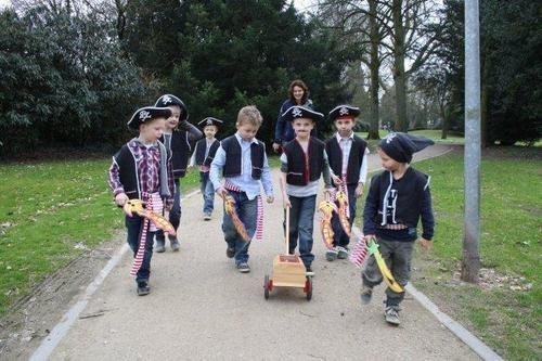 Piraten met de schatzoeker van Kids-concepts.nl..de weg naar een geslaagd kinderfeest