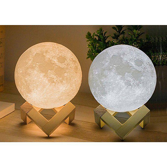Amazon Com Moon Lamp 3d Printing Lunar Lamp Night Light As Kids Women Girls Gift Usb Charging And Touch Control Bright Night Light Lamp Moon Light Lamp Lamp