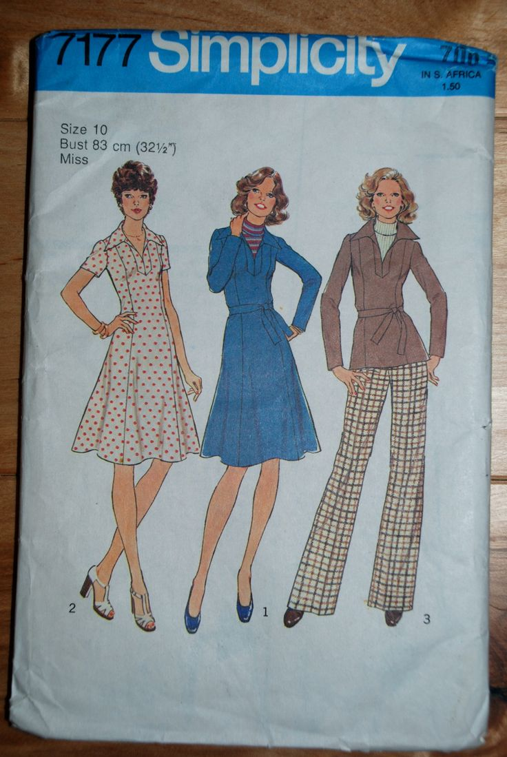 31 best images about Retro 1970s and 1980s sewing patterns ...