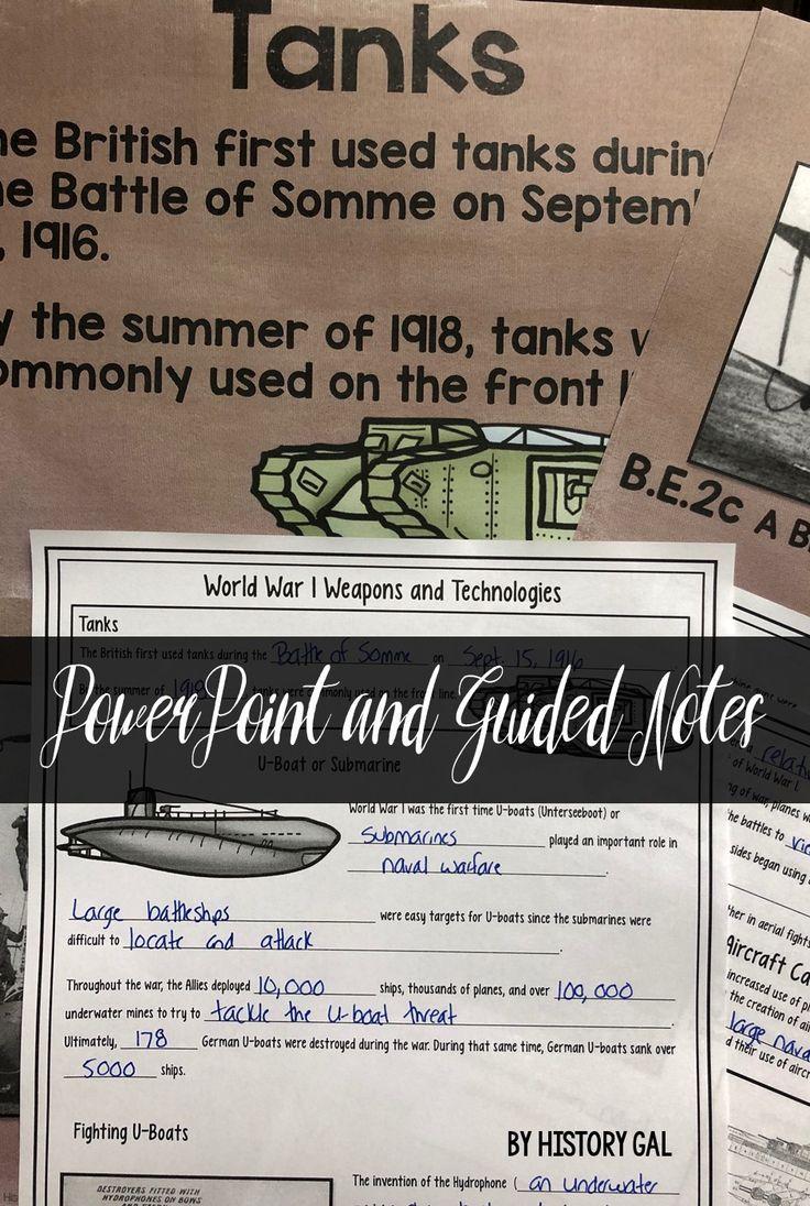 World War I (World War 1) Weapons   U S  History Ideas   Modern